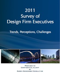 Cover of the 2011 Design Firm Executives Survey, conducted by Karen Newcombe