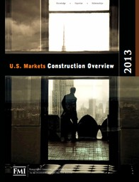 Cover of 2013 U.S. Markets Construction Overview