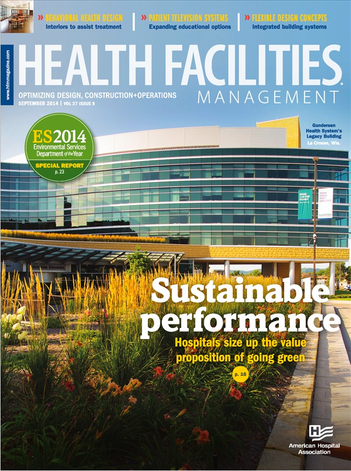 Cover of HealthFacilities Management Magazine for Sept 2014